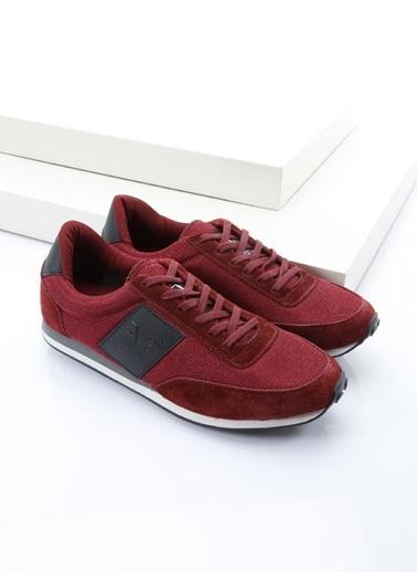 19V69 Italia %100 Deri Lifestyle Ayakkabı Bordo